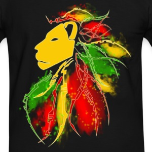Lion Dreadlocks - T-shirt contraste Homme