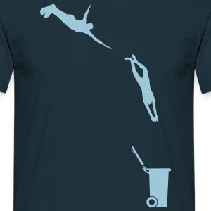 Evolutionary leap in the bin  T-Shirts - Men's T-Shirt