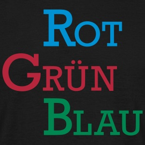 RGB rot grün blau / red green blue - Männer T-Shirt