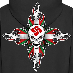 basque skull Sweat-shirts - Veste à capuche Premium Homme