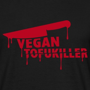 Mens 'VEGAN TOFUKILLER' RED - Men's T-Shirt