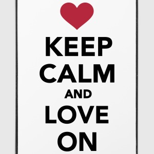 Keep calm and love on Sonstige - iPhone 4/4s Hard Case