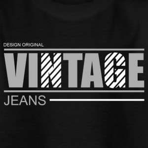 vintage jeans design original Skjorter - T-skjorte for barn