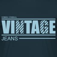 Motif ~ T shirt homme vintage jeans design original