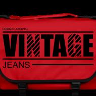 Motif ~ Sac à bandoulière vintage jeans design original