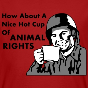 How About a Nice Hot Cup Of ANIMAL RIGHTS T-Shirts - Männer Bio-T-Shirt