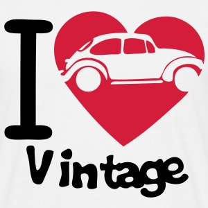 love vintage voiture6 coccinelle coeur Tee shirts - T-shirt Homme