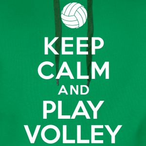 Keep calm and play Volley Sweat-shirts - Sweat-shirt à capuche Premium pour hommes