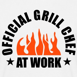 Official Grill Chef at Work. BBQ Barbecue Koch  T-Shirts - Männer T-Shirt