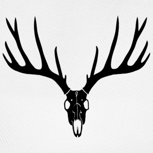 stag night deer buck antlers hart elk skull Caps & Hats - Baseball Cap