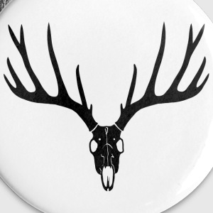 stag night deer buck antlers hart elk skull Buttons - Buttons large 56 mm
