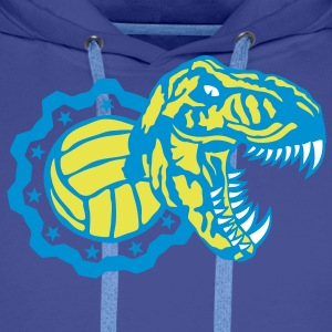 volley waterpolo tyrannosaure logo dinos Sweat-shirts - Sweat-shirt à capuche Premium pour hommes
