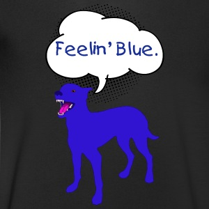 Dog, Blue T-Shirts - Men's V-Neck T-Shirt
