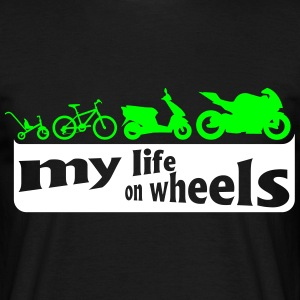 my life on wheels - Motorrad T-shirts - Mannen T-shirt