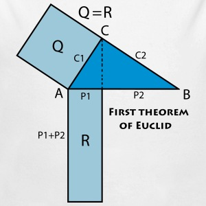 first_theorem_of_euclid_p1 Hoodies - Longlseeve Baby Bodysuit