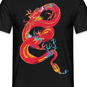 dragon rouge Tee shirts - T-shirt Homme