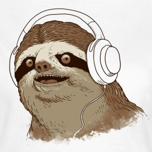 White Sloth with headphones T-Shirts - Women's T-Shirt