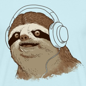 Sky White Sloth with headphones T-Shirts T-Shirts - Men's T-Shirt