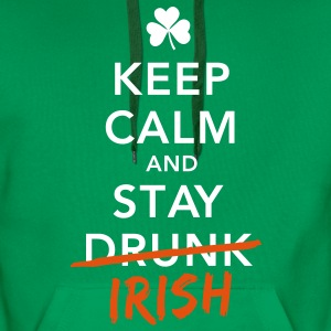 love keep calm drunk celtic irish st patricks day Hoodies & Sweatshirts - Men's Premium Hoodie