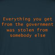 Design ~ Goverment Theft (Back) T-Shirt