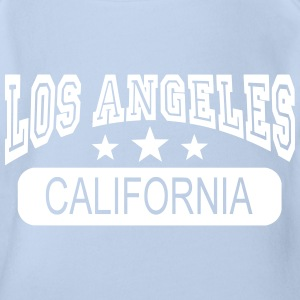 los angeles california Shirts - Baby bio-rompertje met korte mouwen