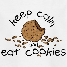 Keep calm and eat cookies Skjorter