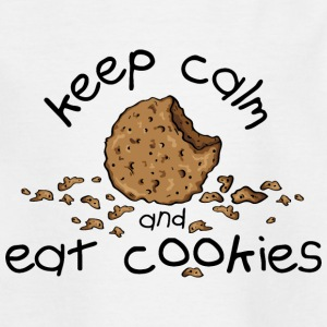 Keep calm and eat cookies Skjorter - T-skjorte for barn
