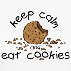 Keep calm and eat cookies T-paidat