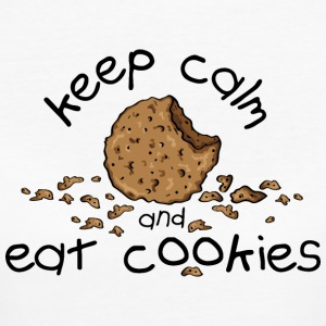 Keep calm and eat cookies Magliette - T-shirt ecologica da donna