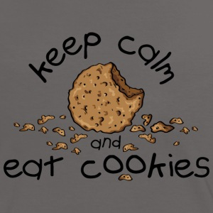 Keep calm and eat cookies T-shirts - Vrouwen contrastshirt