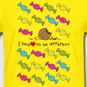 I love to be different- cookie Camisetas - Camiseta contraste hombre
