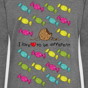 I love to be different- cookie Pullover & Hoodies - Frauen Pullover mit U-Boot-Ausschnitt von Bella