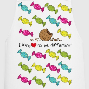 I love to be different- cookie Delantales - Delantal de cocina