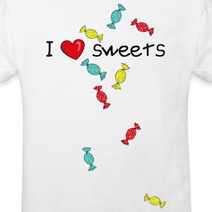 I love sweets T-shirts - Organic børne shirt