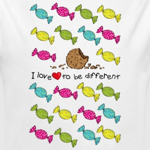 I love to be different- cookie Felpe - Body ecologico per neonato a manica lunga