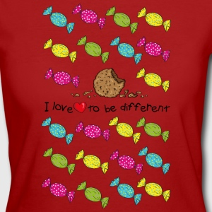 I love to be different- cookie T-shirts - Ekologisk T-shirt dam