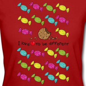 I love to be different- cookie T-paidat - Naisten luonnonmukainen t-paita