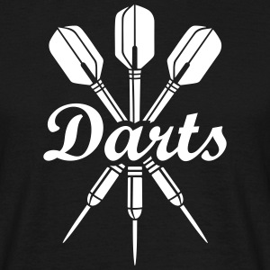 darts Dart Klubblag sports fan Dartboard Logo T-skjorter - T-skjorte for menn