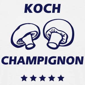 T-Shirt Koch Champignon 07© by kally ART® - Männer T-Shirt