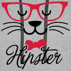 Swag hipsta hipster pussy cat animal style face Hoodies & Sweatshirts - Men's Premium Hoodie