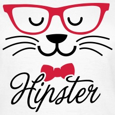 Swag hipsta hipster pussy cat animal style face T-Shirts