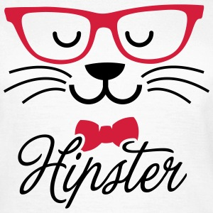 Swag hipsta hipster pussy cat animal style face T-Shirts - Women's T-Shirt