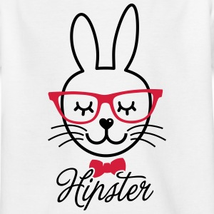 Like a hipsta hipster easter bunny rabbit face Shirts - Kids' T-Shirt