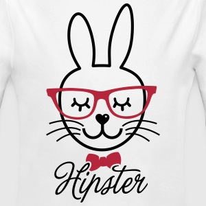 Like a hipsta hipster easter bunny rabbit face Hoodies - Longlseeve Baby Bodysuit