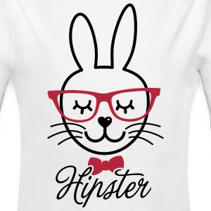Like a hipsta hipster easter bunny rabbit face Sweats - Body bébé bio manches longues