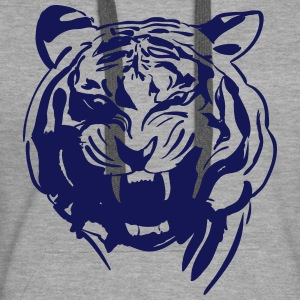 Tigre Sweat-shirts - Sweat-shirt à capuche Premium pour femmes
