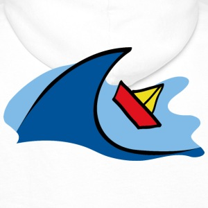 Paper ship in waves Hoodies & Sweatshirts - Men's Premium Hoodie