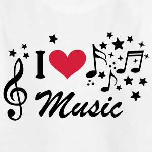 I love Heart Music Musik Violinschlüssel T-Shirts - Teenager T-Shirt