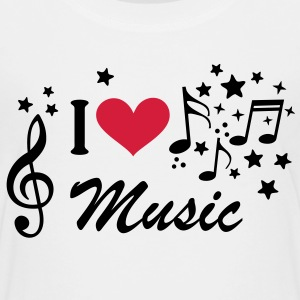 Musik Treble Clef Heart stjerne T-shirts - Teenager premium T-shirt