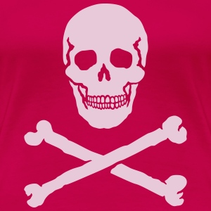 Skull and Crossbones / Jolly Roger, T-Shirt - Women's Premium T-Shirt
